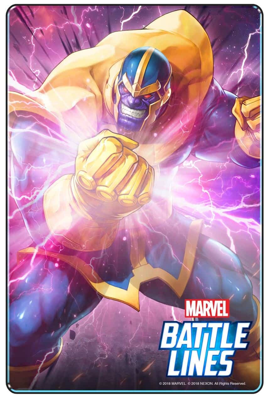 MARVEL BATTLE LINES PRCards Thanos