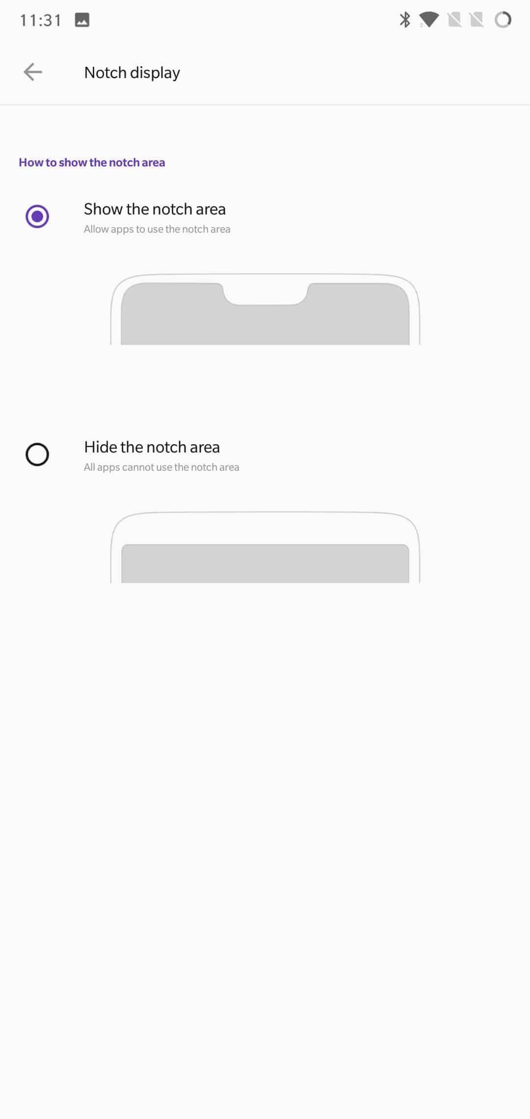 OnePlus 6 AH NS Screenshots display 3 notch