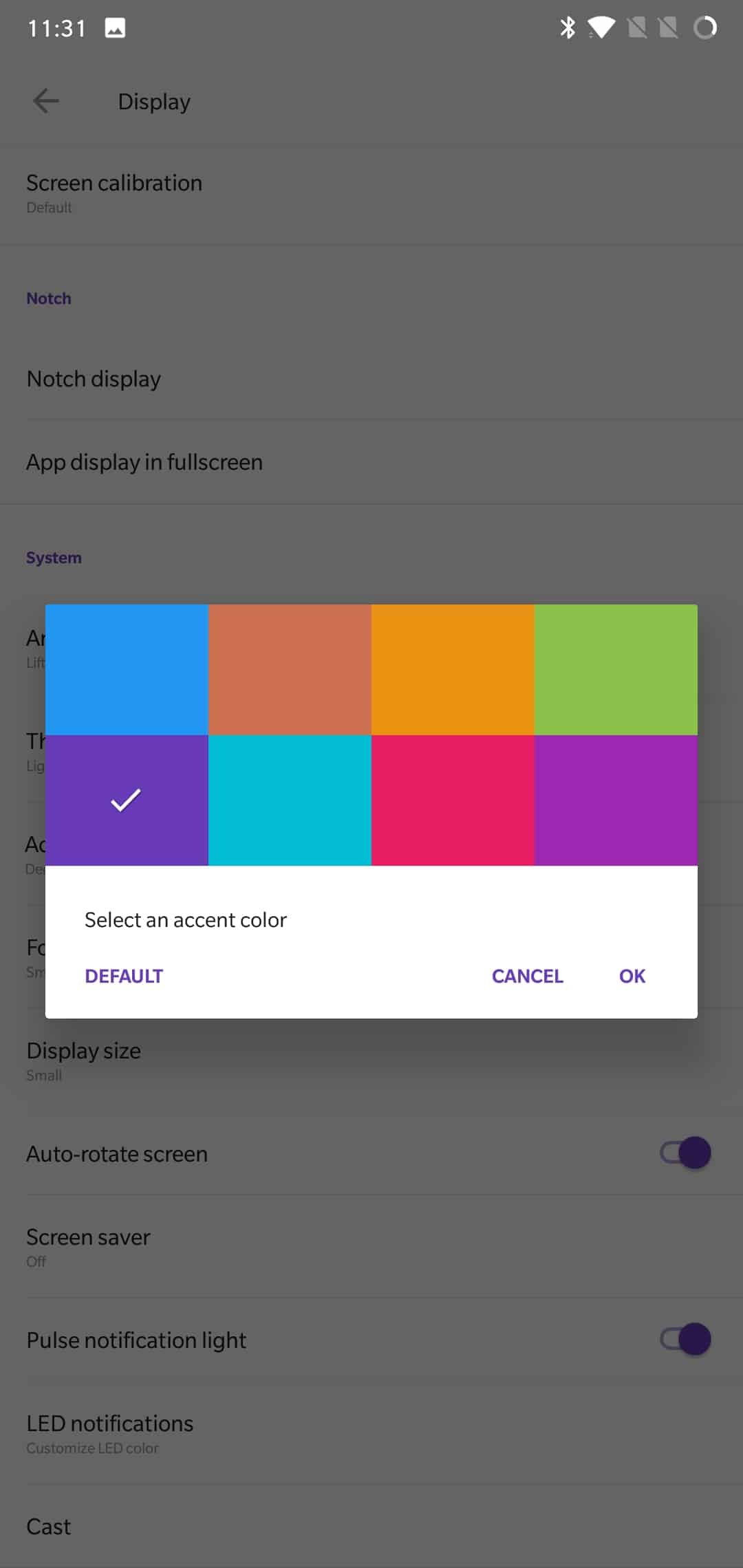 OnePlus 6 AH NS Screenshots display 5 themes