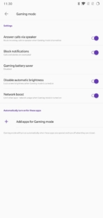 OnePlus 6 AH NS Screenshots gaming mode