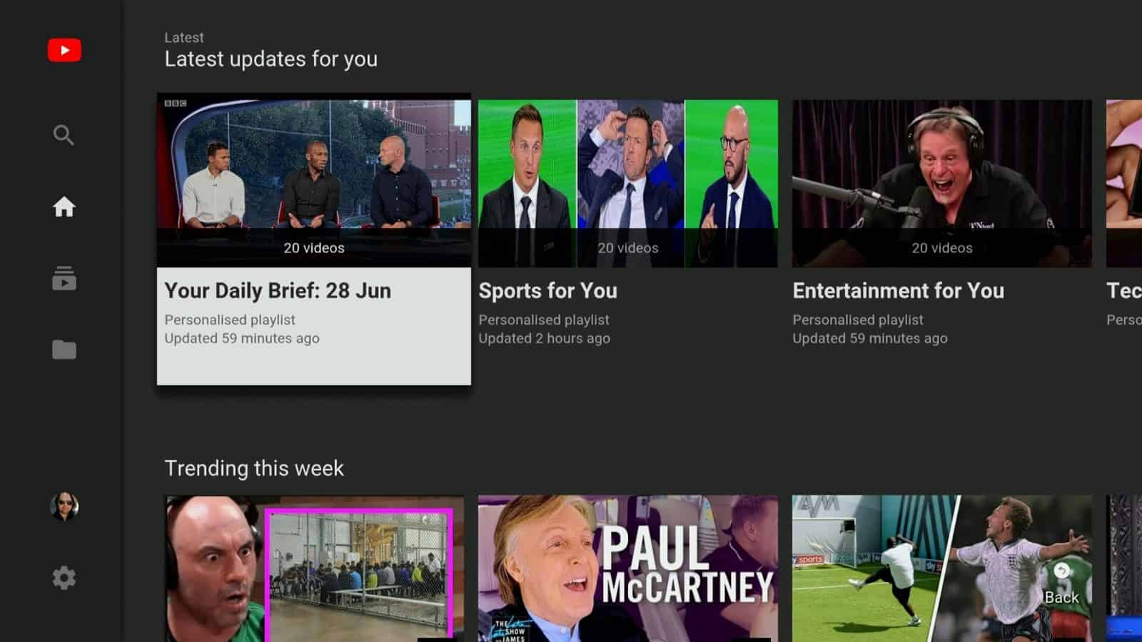 YouTube For Android TV Now Resumes Playback After Switching Apps ...