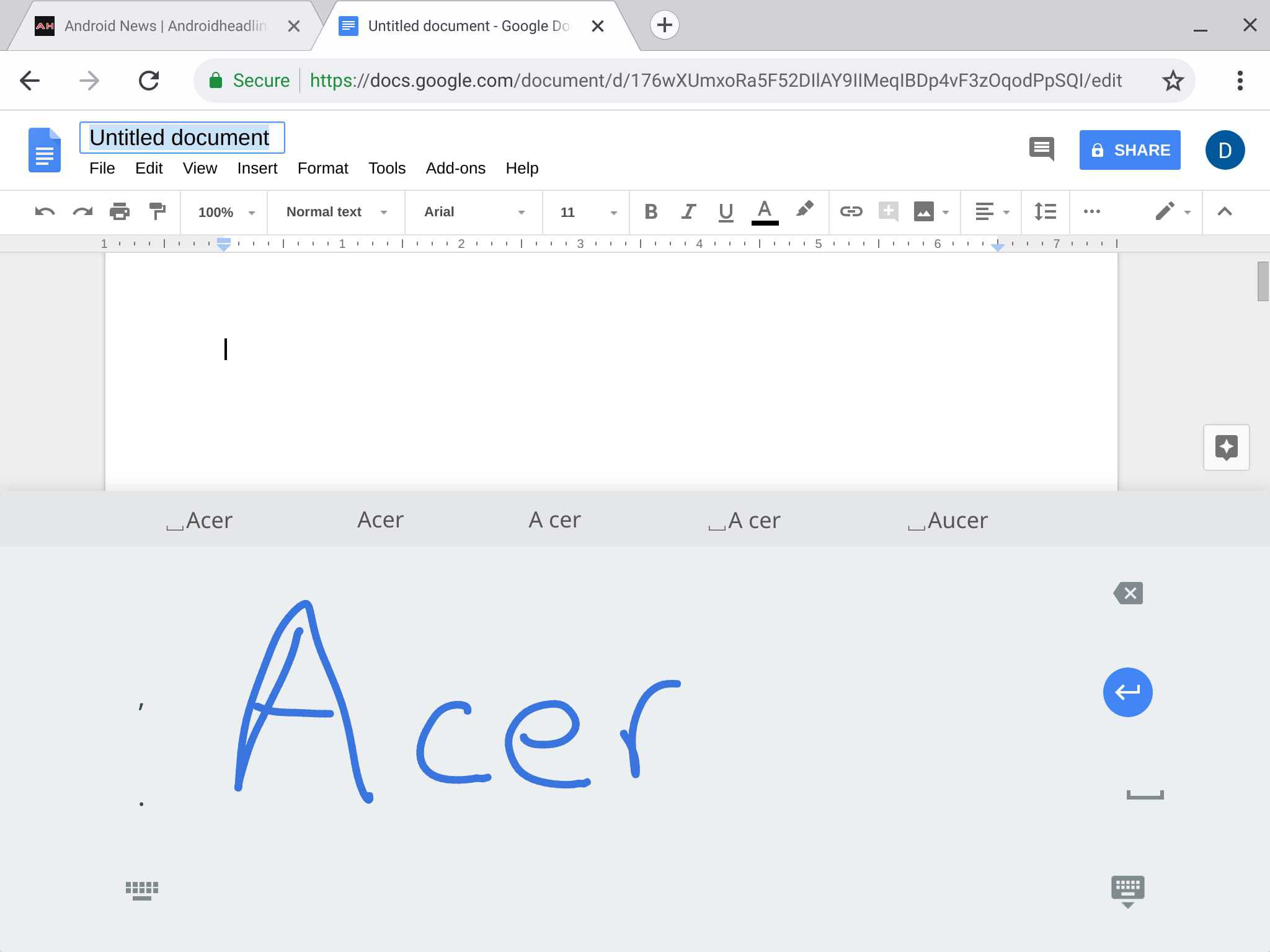 Acer Chromebook Tab 10 Review System UI 11