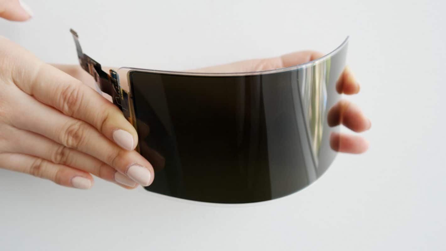 Newly developed Samsung Unbreakable OLED display press image