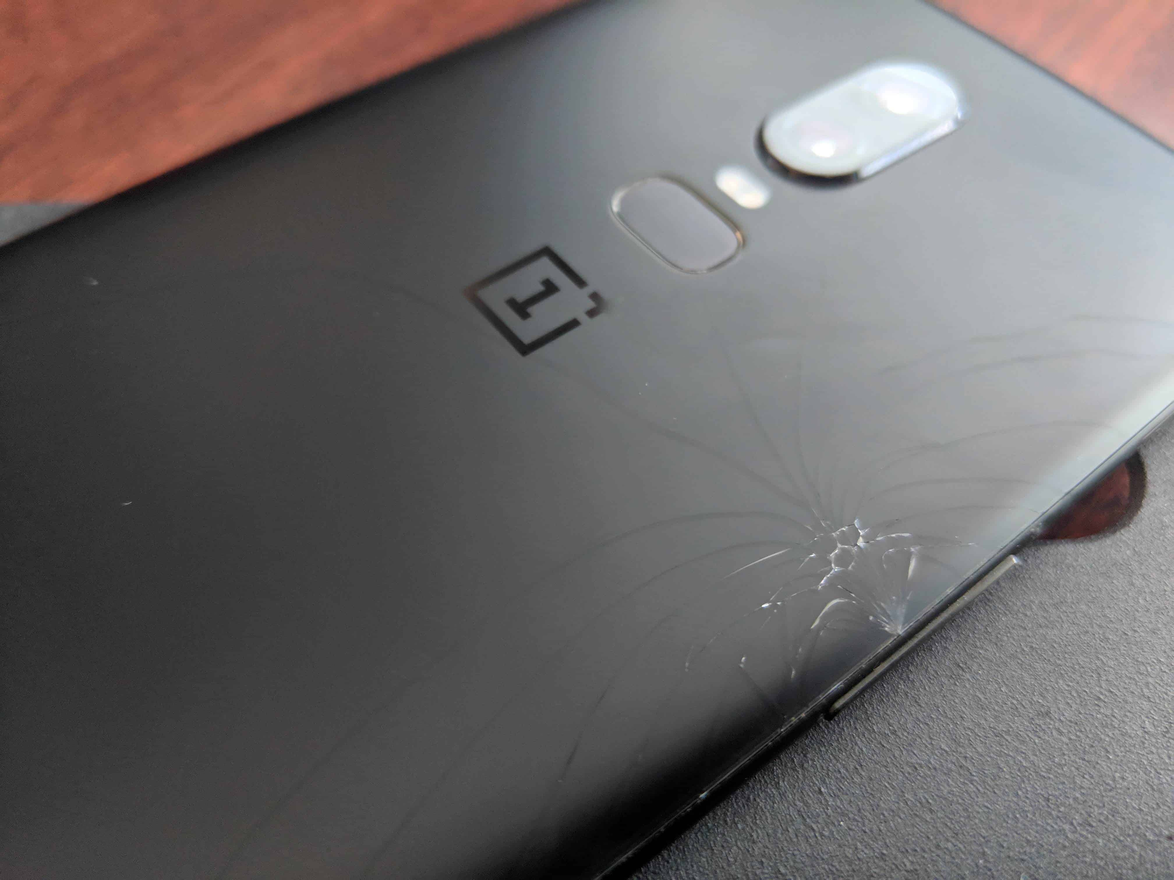 OnePlus 6 Cracked Glass Back 2