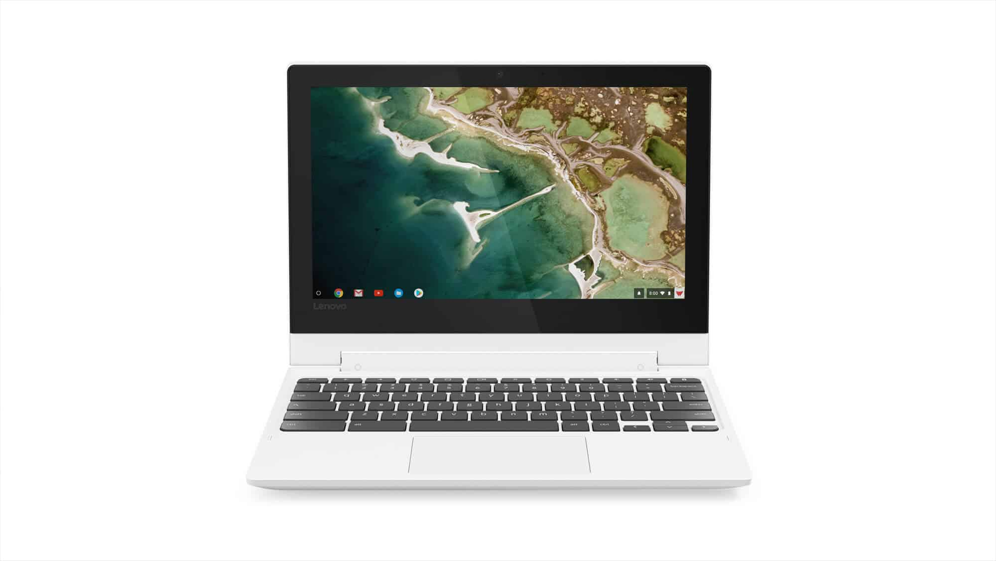 02 Chromebook C330 Hero Front Facing Forward JD Blizzard White