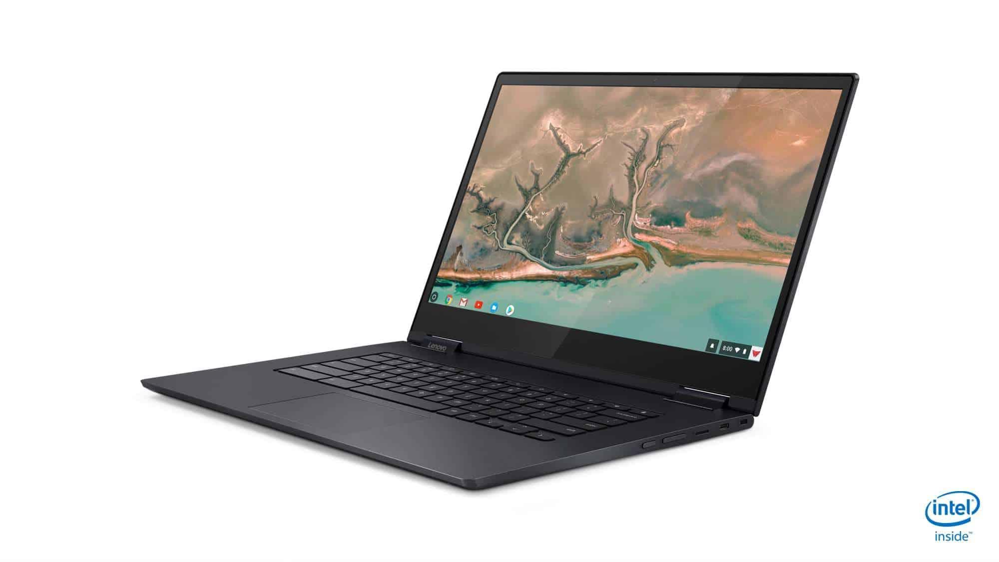 04 Chromebook C630 Hero Front Facing Left Yoga Chromebook