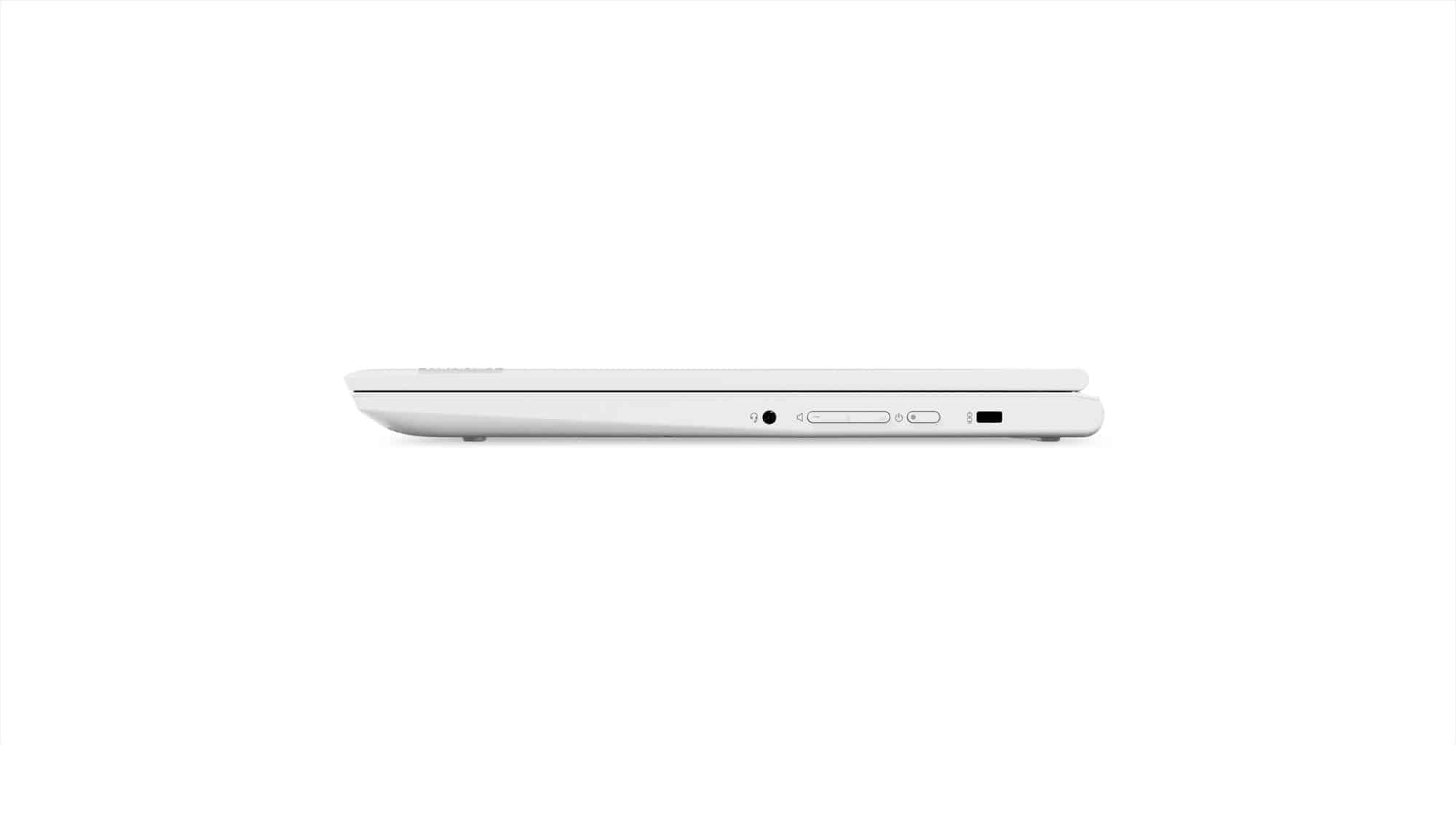 09 Chromebook C330 Tour Right Side Profile Closed Blizzard White