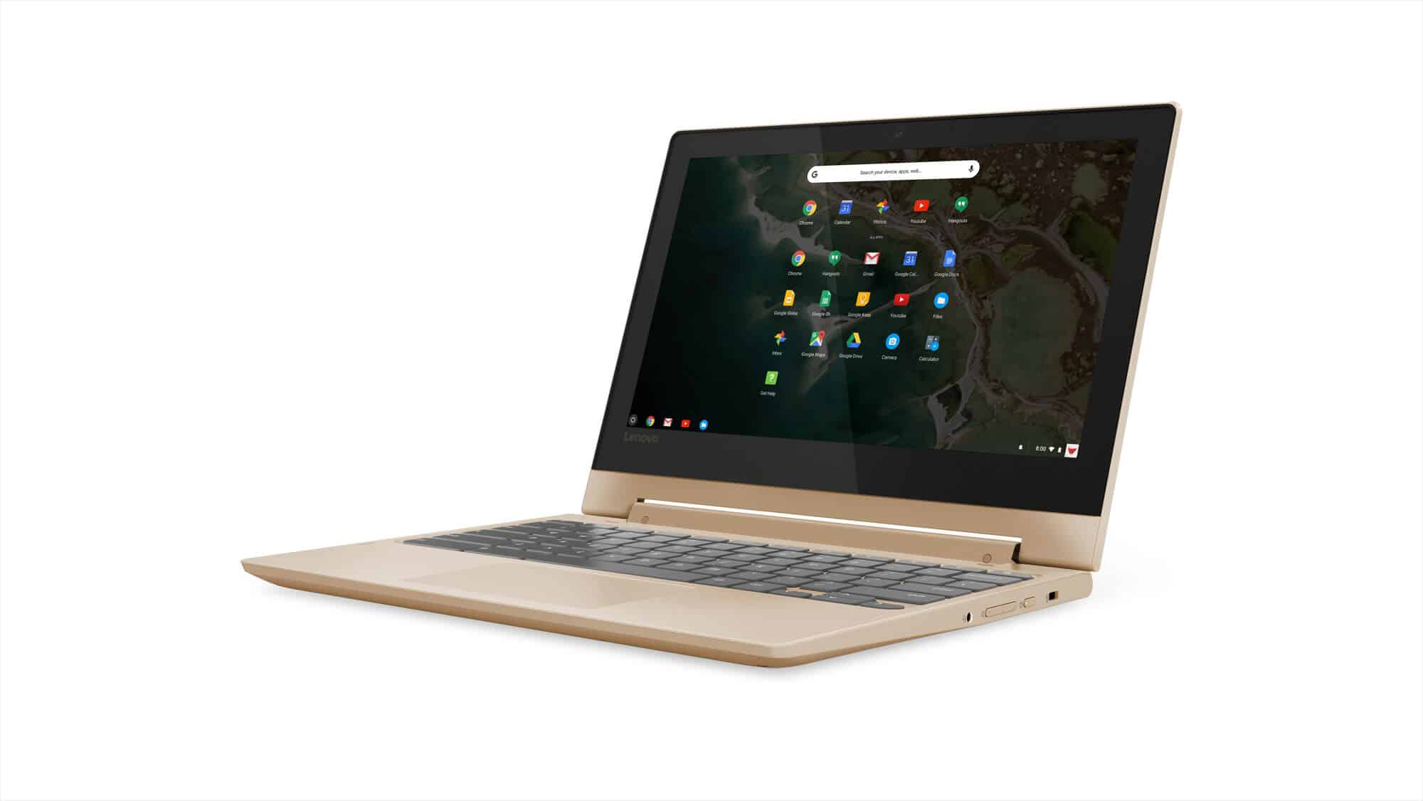 204 Chromebook C330 Hero Front Facing Left BChampagne