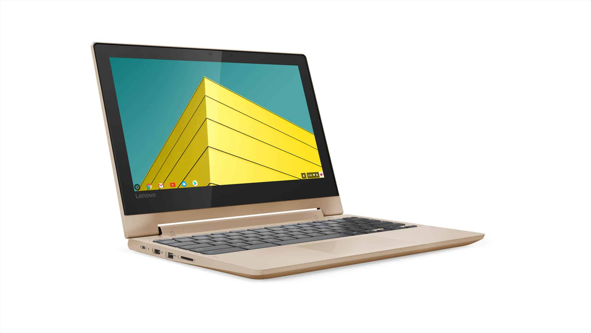 205 Chromebook C330 Hero Front Facing Right Champagne