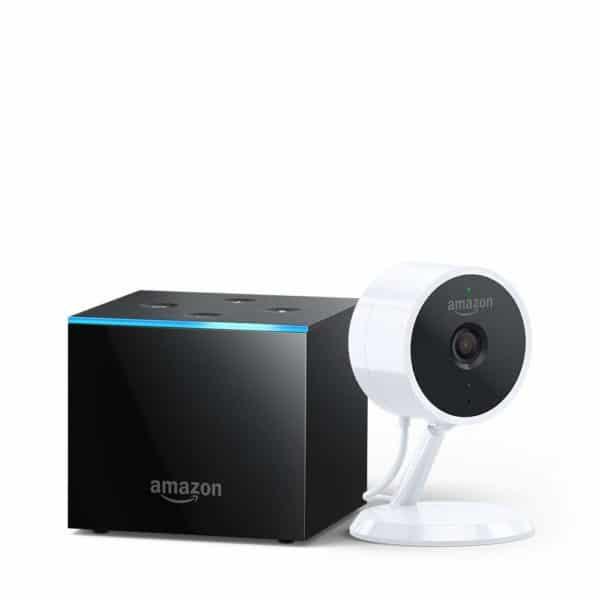 Amazon Fire TV Cube & Cloud Cam Security Camera - (Amazon)