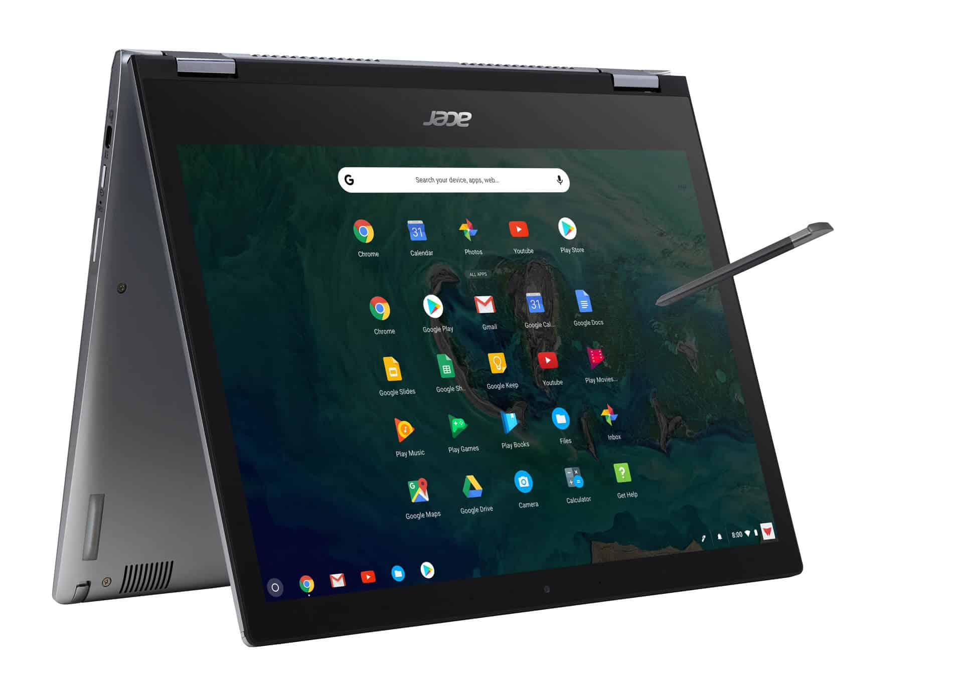 Acer Chromebook Spin 13 tent mode right angle from Acer 13