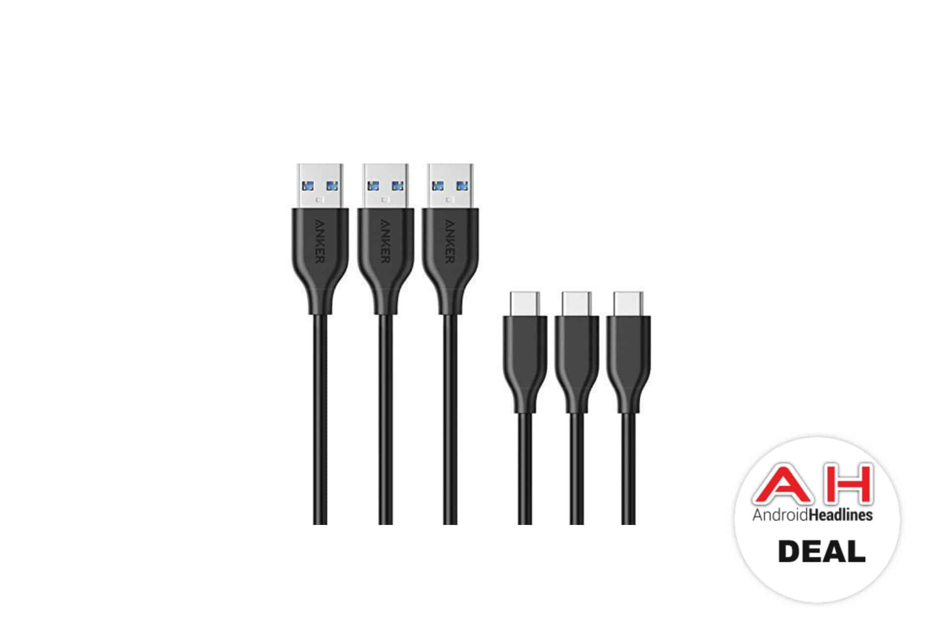 Anker 3 Pack Of USB C Cables Deal AH