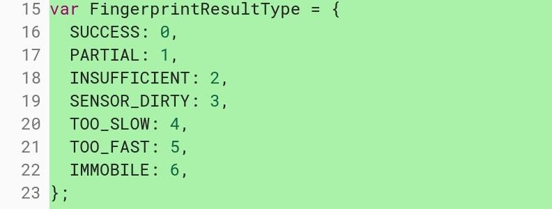 Chrome OS Fingerprint enrollment Code Commit Chromium Gerrit 04