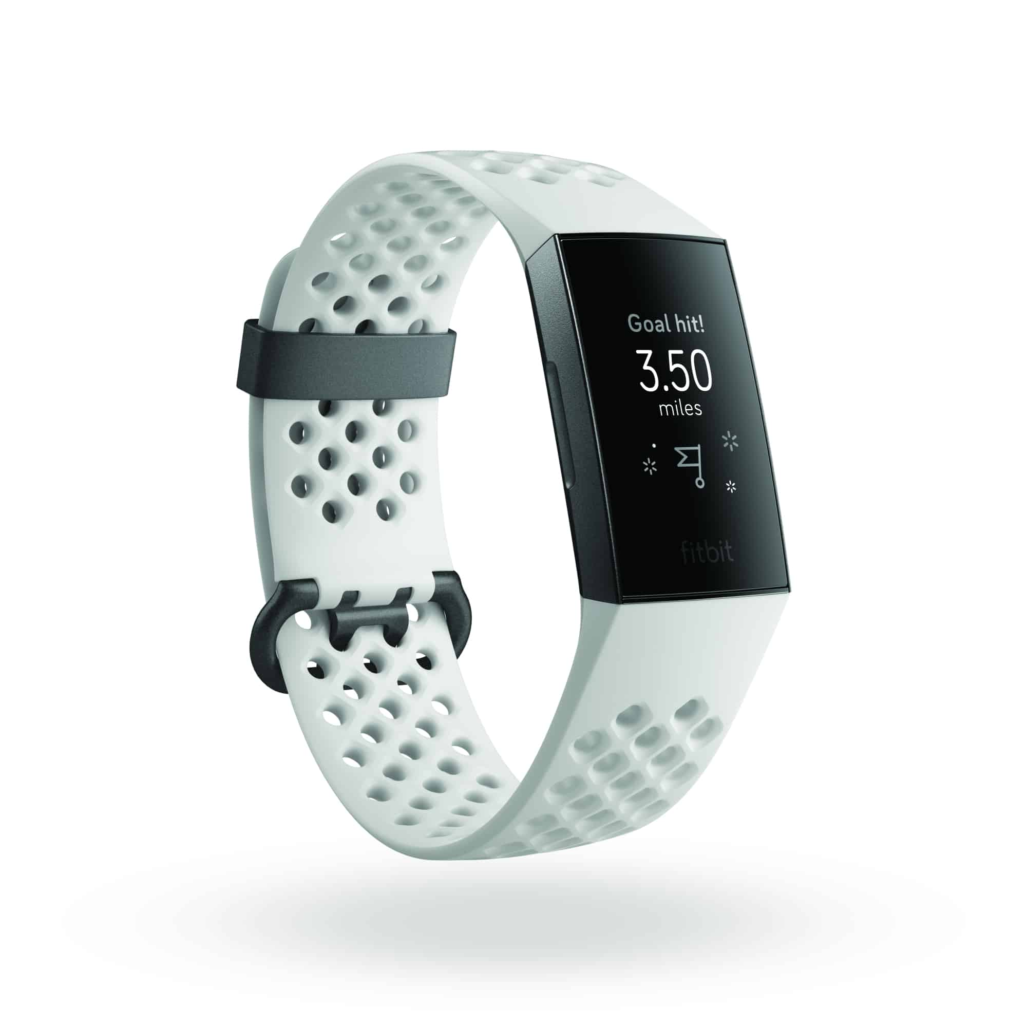 Fitbit Charge 3 3QTR SE Frost White Graphite Goal Hit 35 Shadow