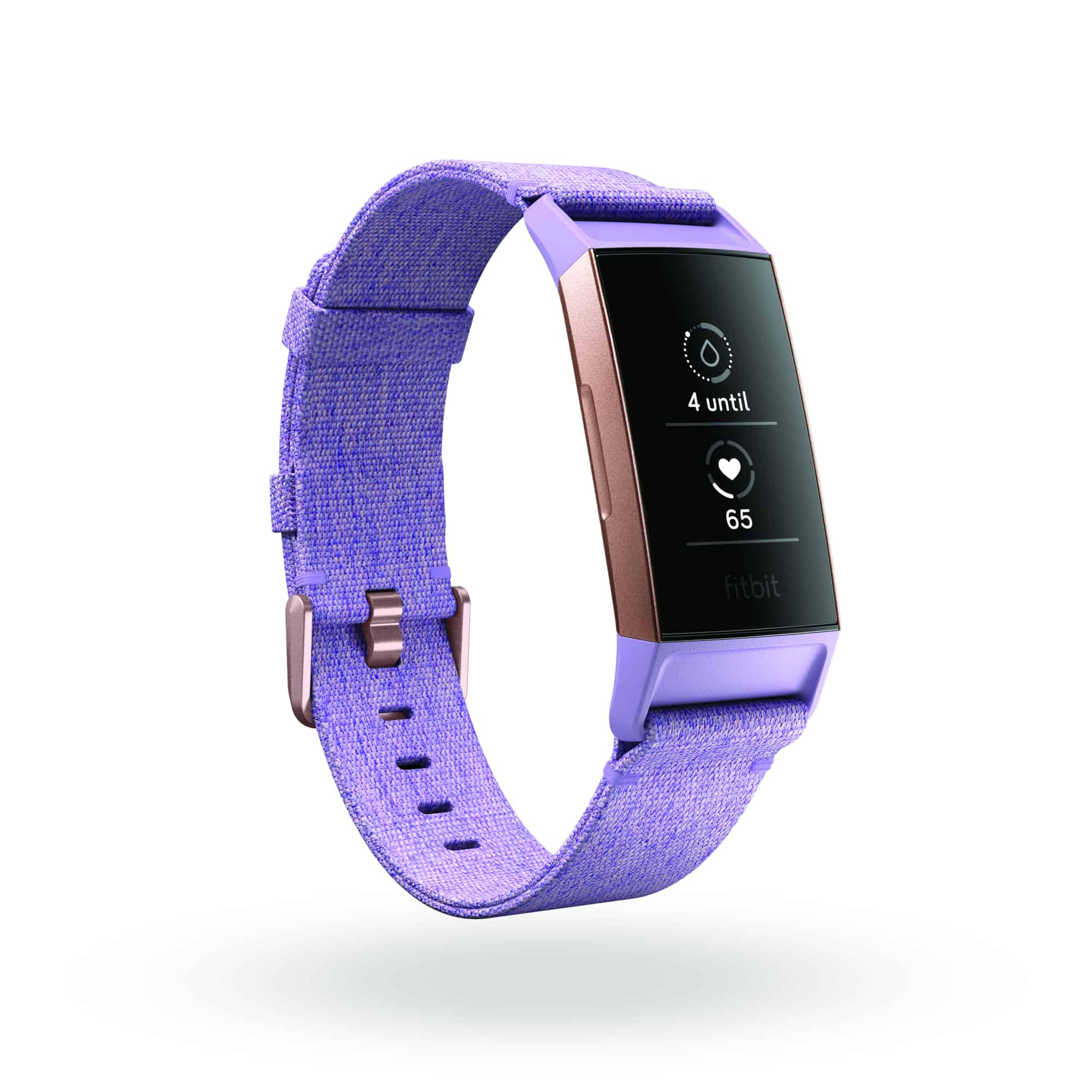 Fitbit Charge 3 3QTR SE Lavender Rose Gold Period Tracking In Today Shadow