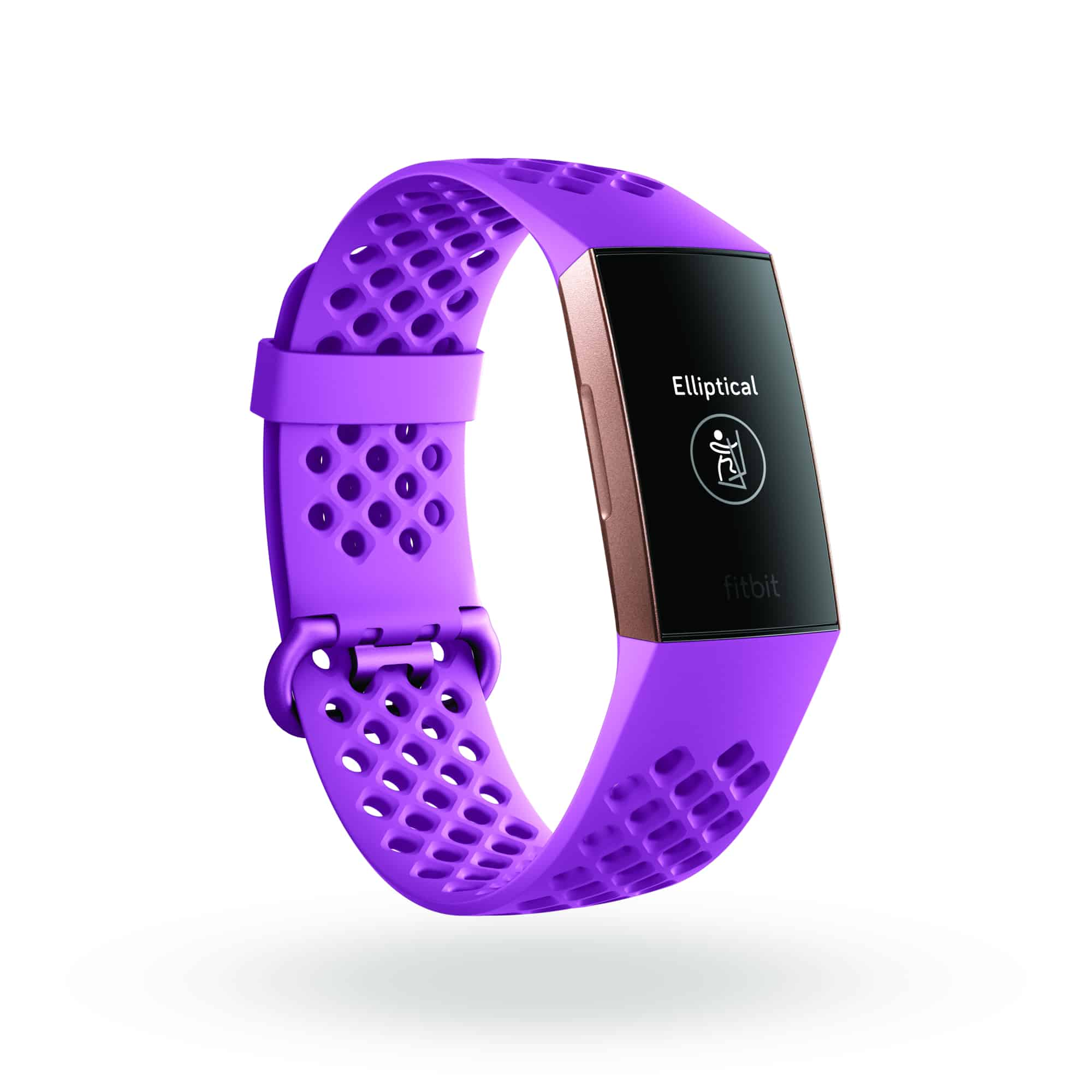 Fitbit Charge 3 3QTR Sports Berry Rose Gold Exercise Mode Elliptical Shadow