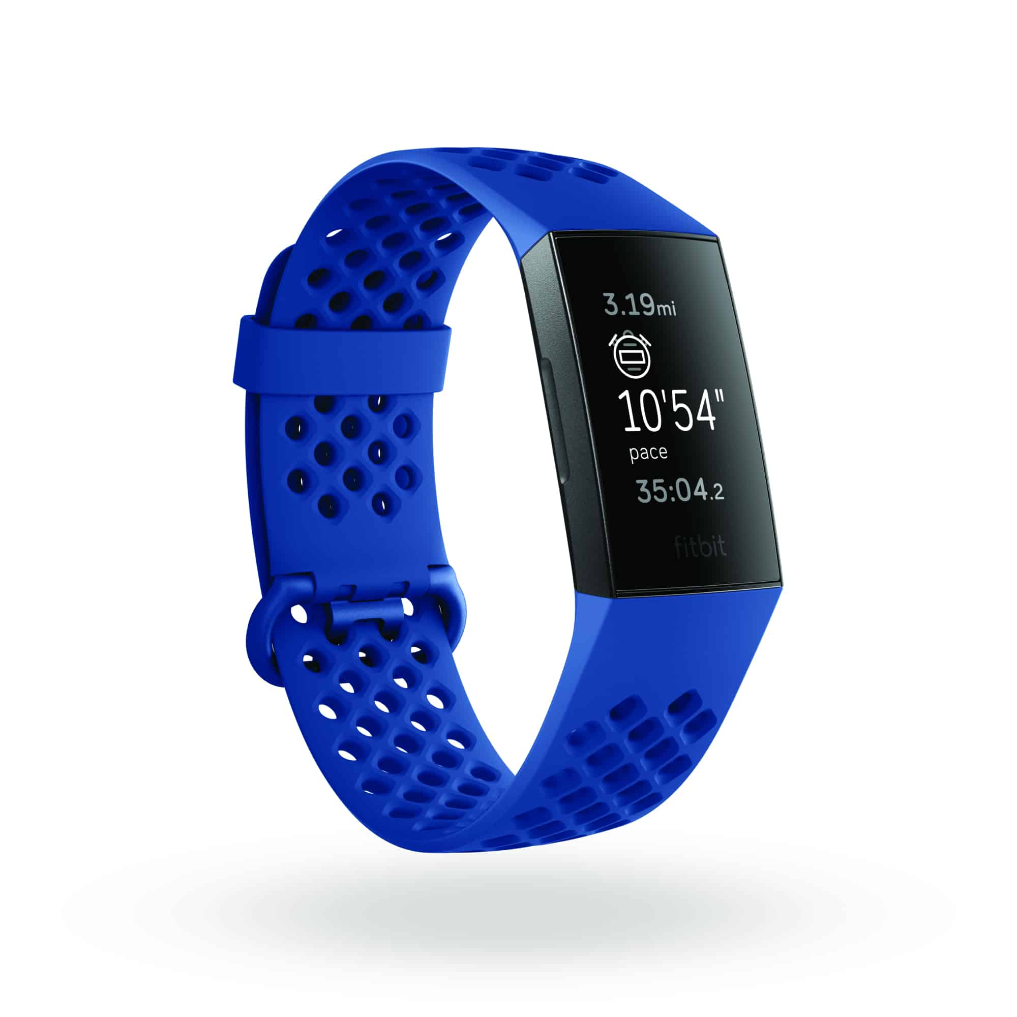 Fitbit Charge 3 3QTR Sports Navy Graphite Realtime Distance Pace Shadow