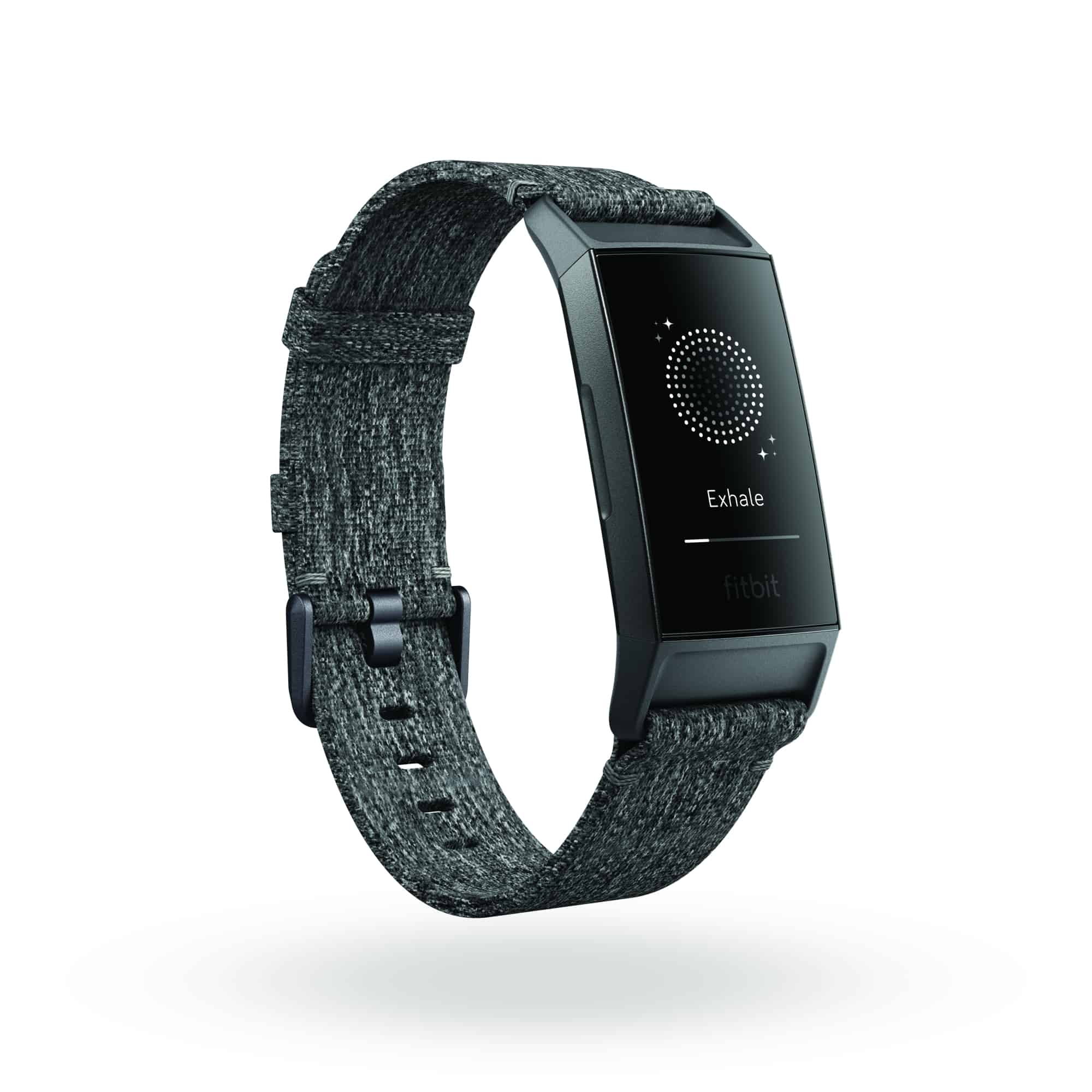 Fitbit Charge 3 3QTR Woven Charcoal Graphite Exhale Shadow