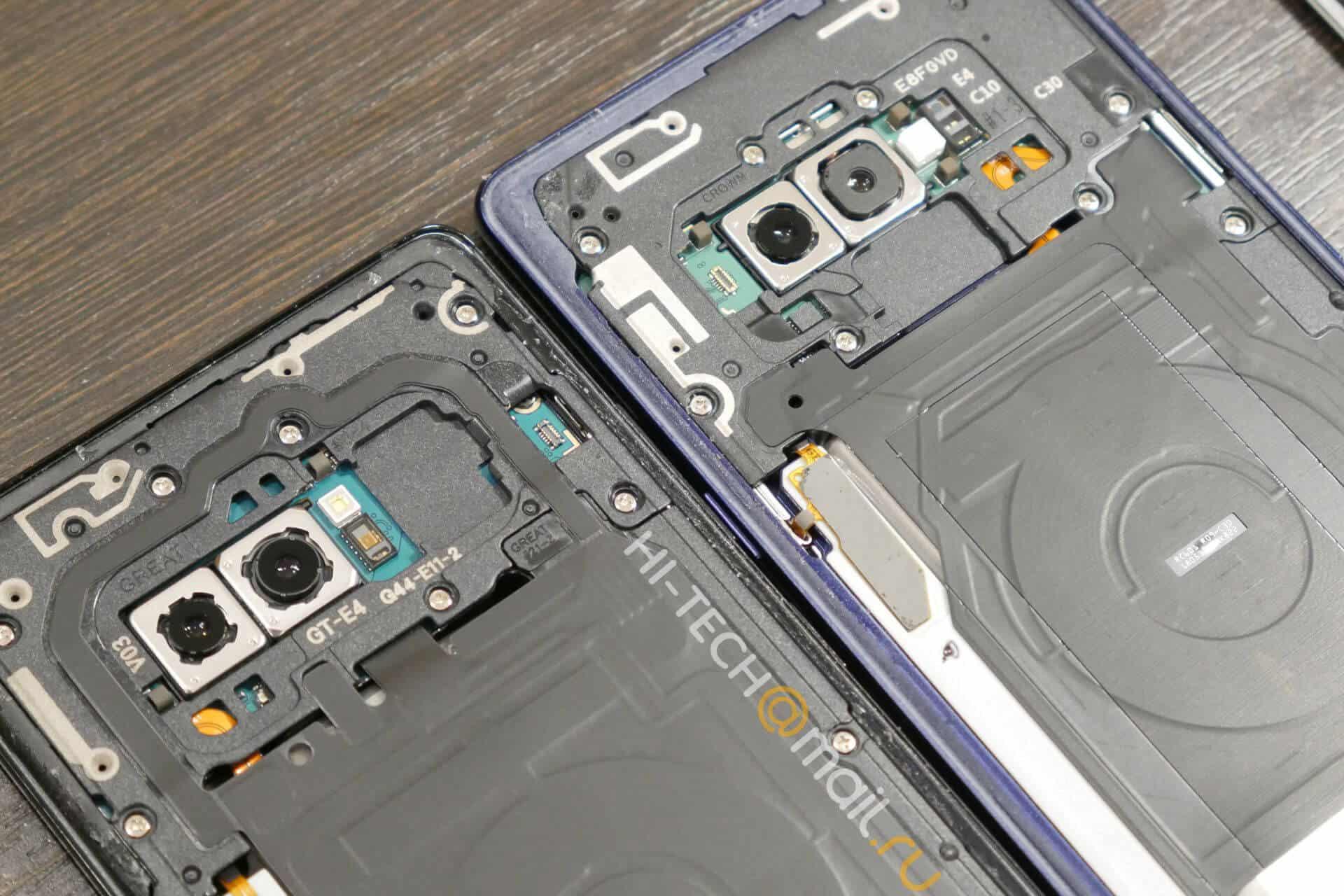 Galaxy Note 8 v Galaxy Note 9 teardown from Hi Tech Mail RU 01