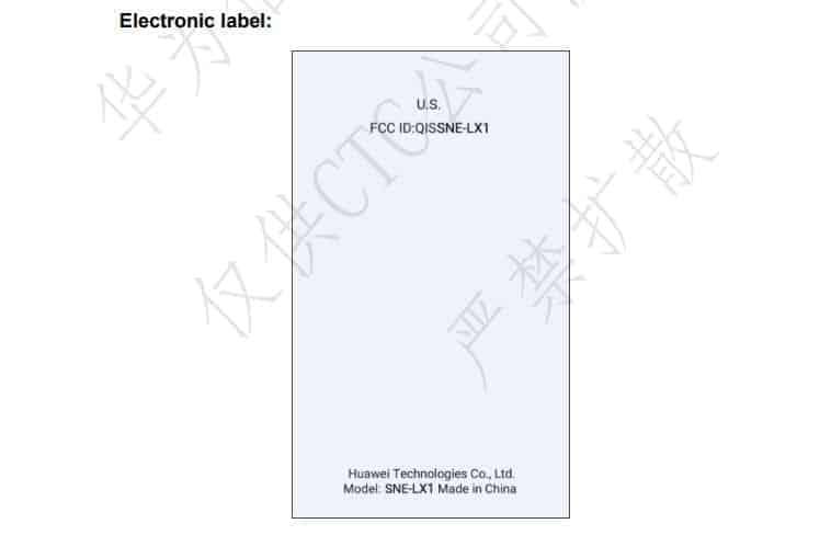 Huawei Mate 20 Lite FCC 3