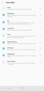 Samsung Galaxy Note 9 AH NS Camera modes