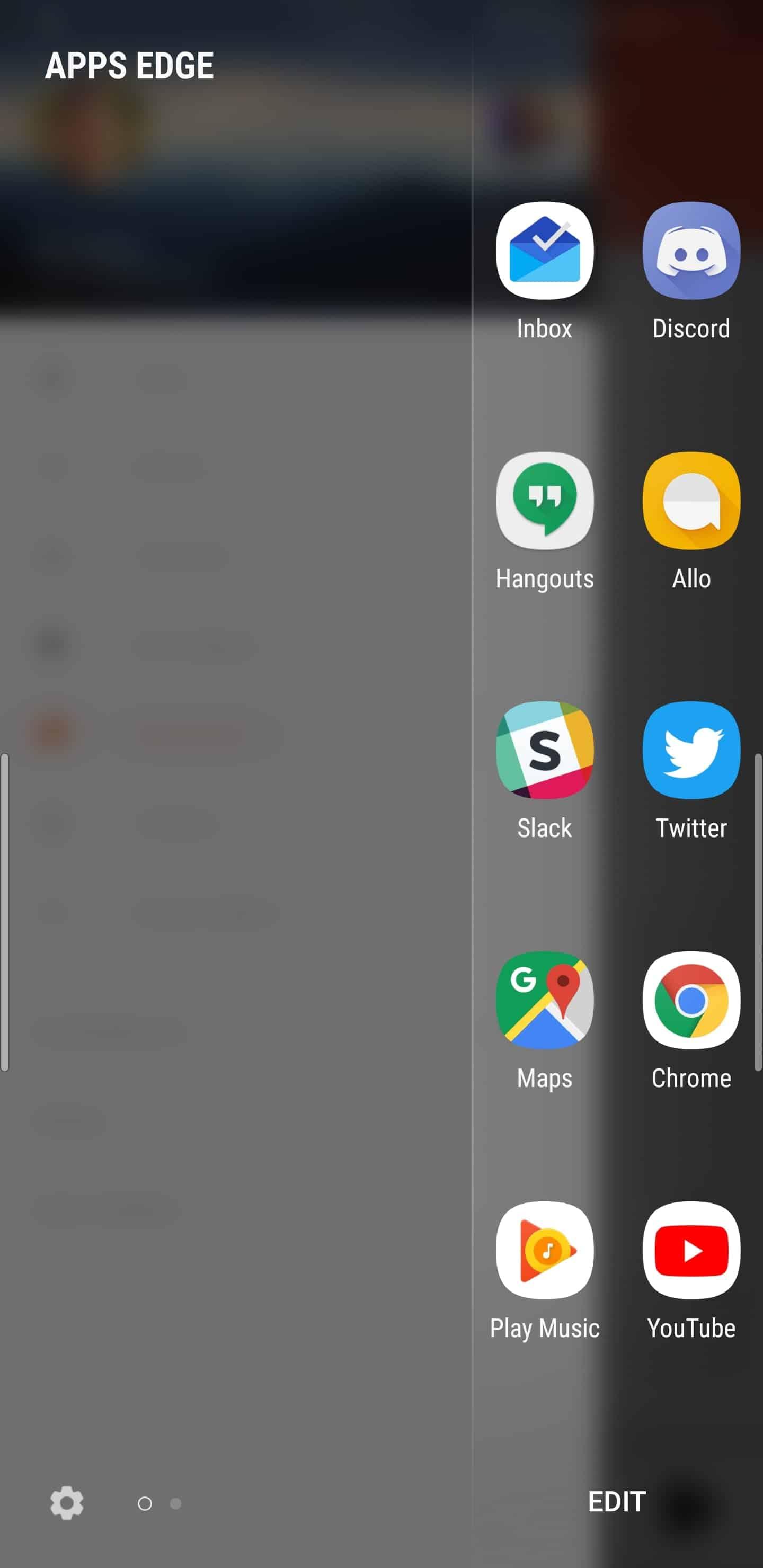 Samsung Galaxy Note 9 AH NS apps edge