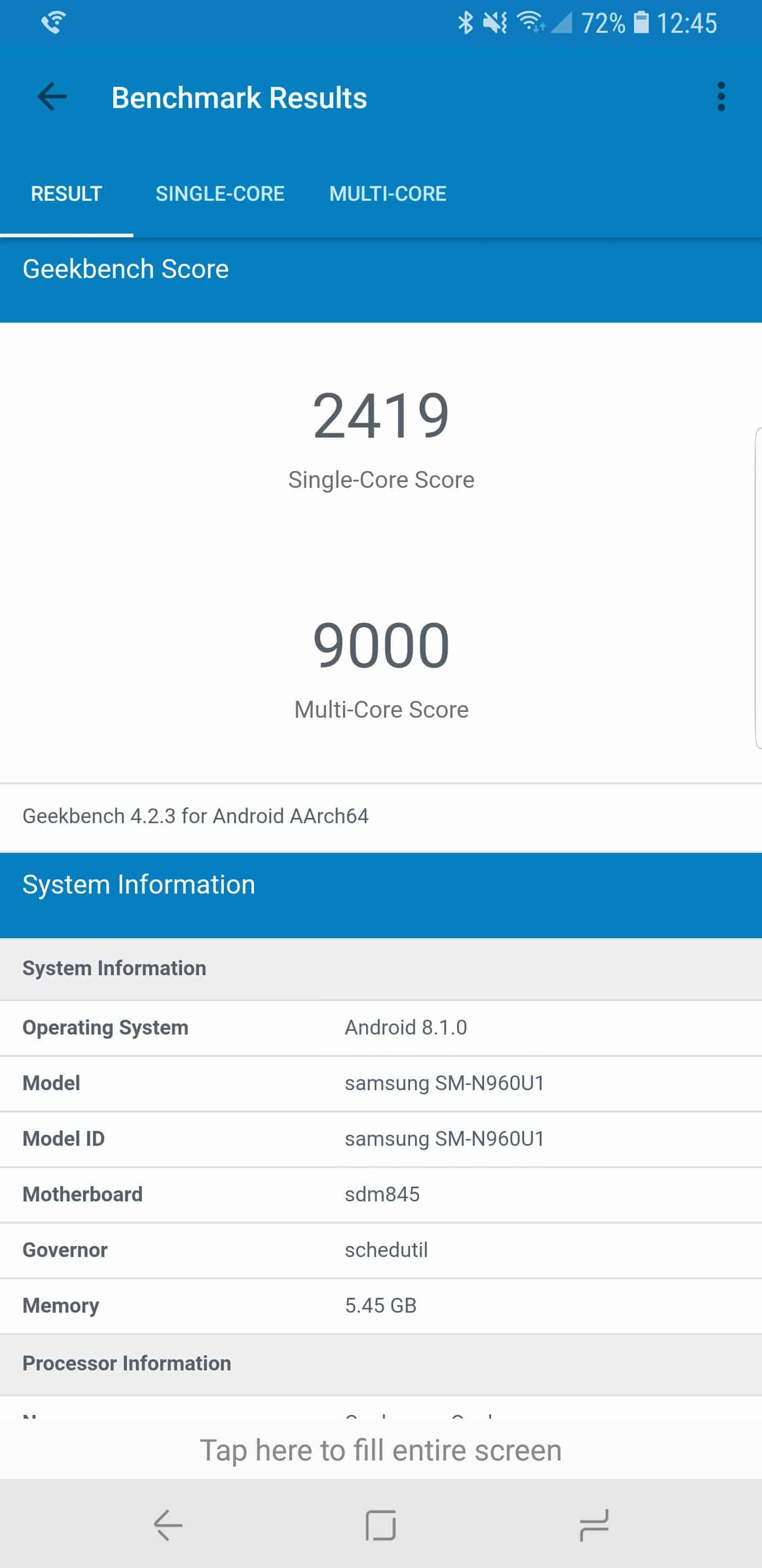 Samsung Galaxy Note 9 AH NS benchmarks 02