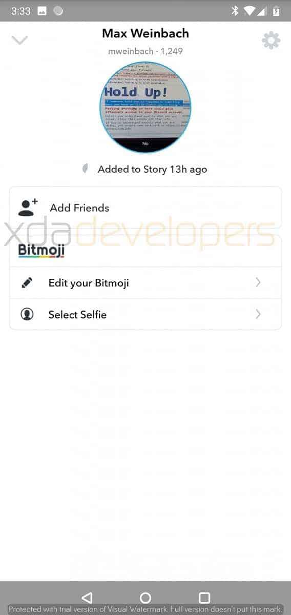 Snapchat Alpha leaked screenshot 2
