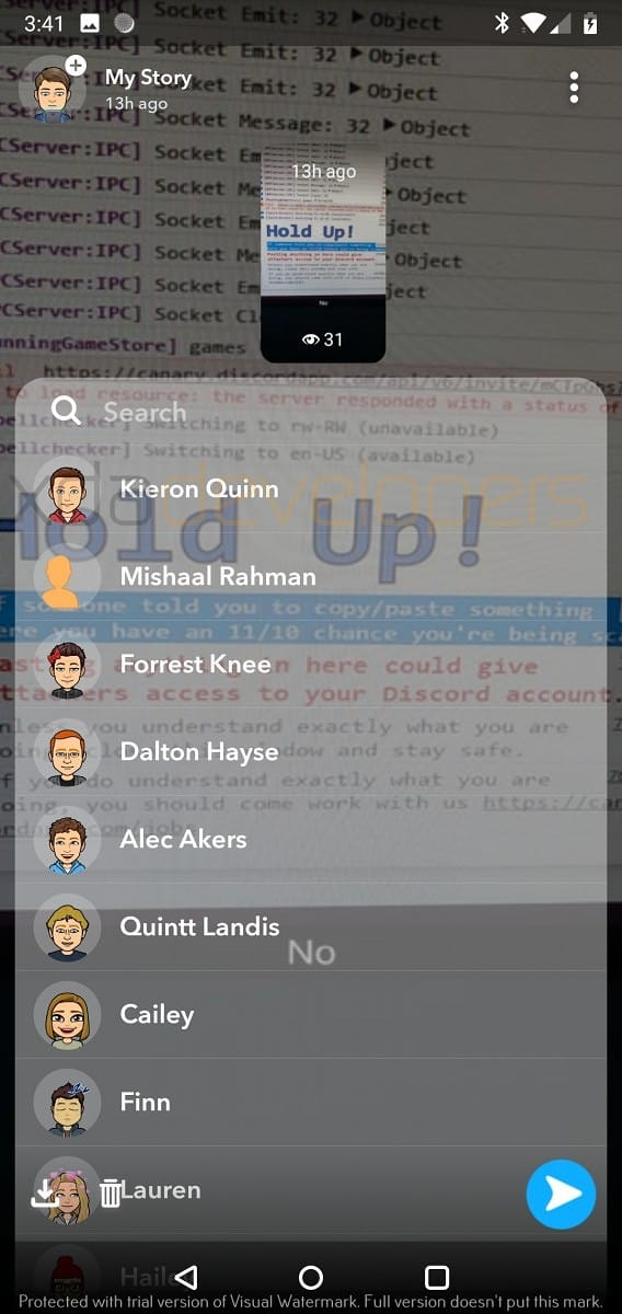 Snapchat Alpha leaked screenshot 3