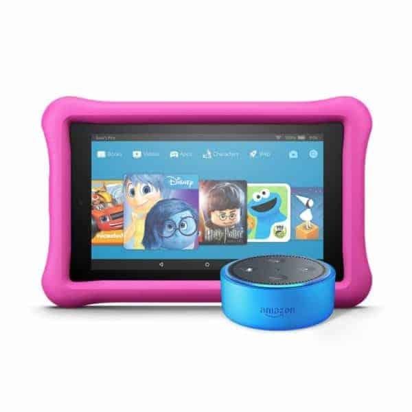 Amazon Echo Dot Kids Edition + Fire 7 Kids Edition - (Amazon)