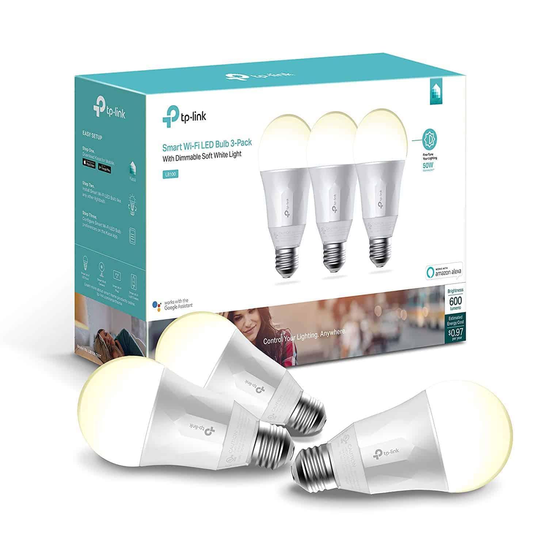 Kasa Smart Wi-Fi LED Light Bulb - 3-Pack