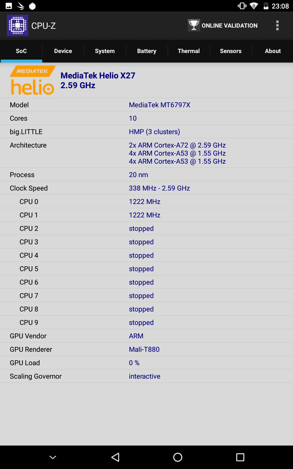 CHUWI Hipad CPU Z