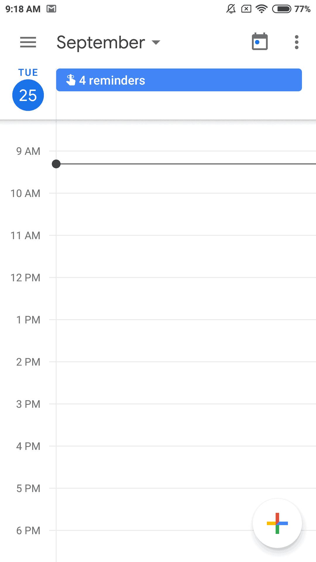 Google Calendar 6.0 screen 1