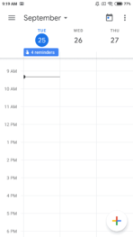 Google Calendar 6.0 screen 3