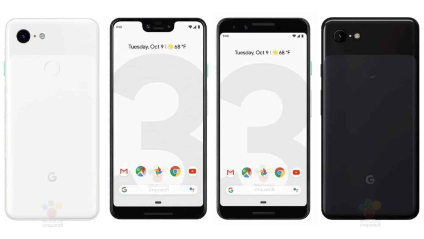 Google Pixel 3 3XL Renders Title from press renders via WinFuture