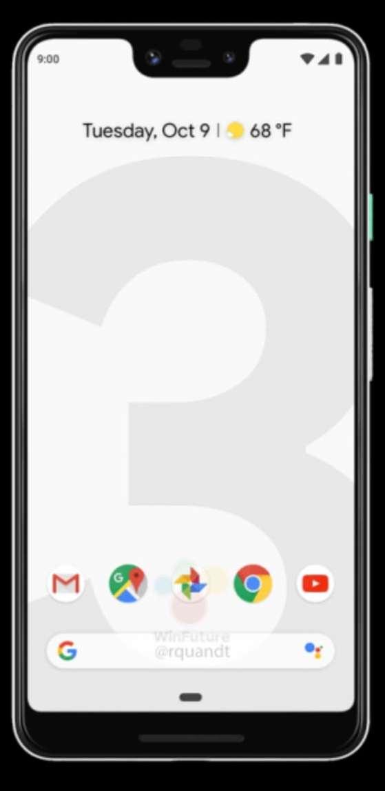 Google Pixel 3 XL Press Render from WinFuture 01
