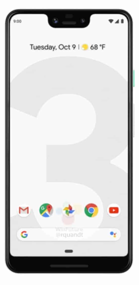 Google Pixel 3 XL Press Render from WinFuture 04