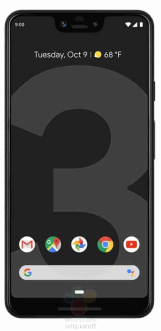 Google Pixel 3 XL Press Render from WinFuture 05