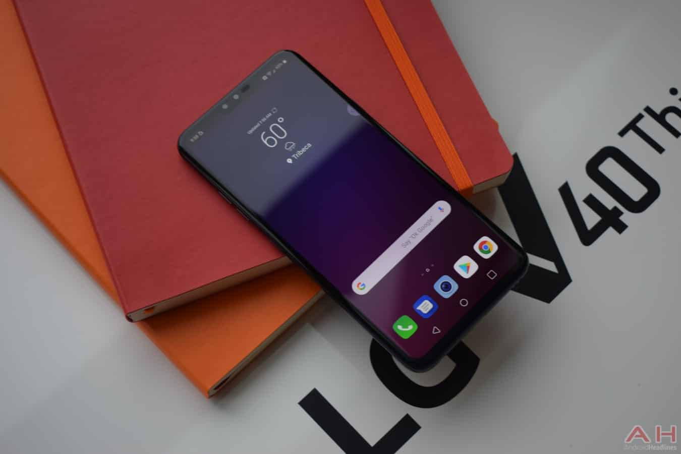 LG V40 ThinQ unveiled officially with total of five cameras