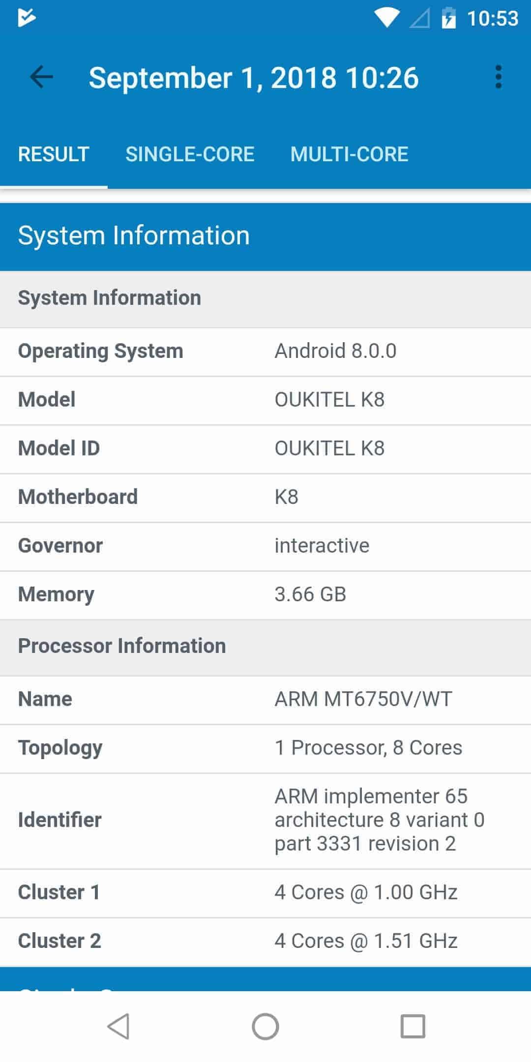 OUKITEL K8 performance bench Screenshot 02