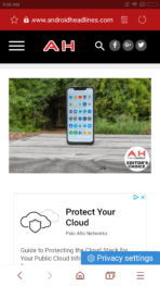 Samsung Internet 9.0 screenshot 1