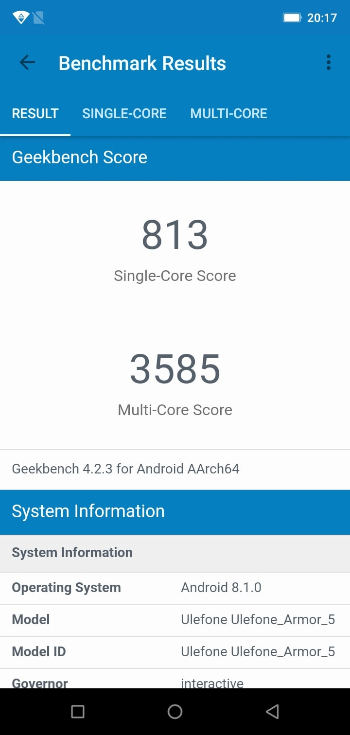 Ulefone Armor 5 Review benchmark 01