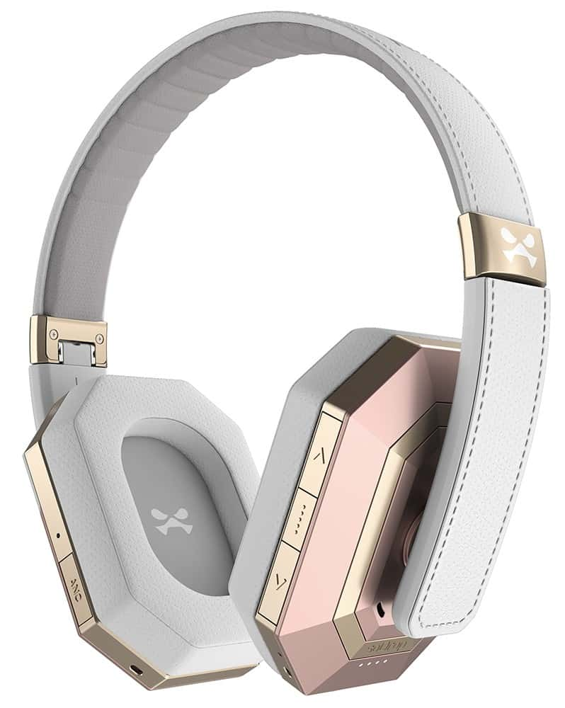 ghostek sodrop pro premium wireless bluetooth headphones white rose 4
