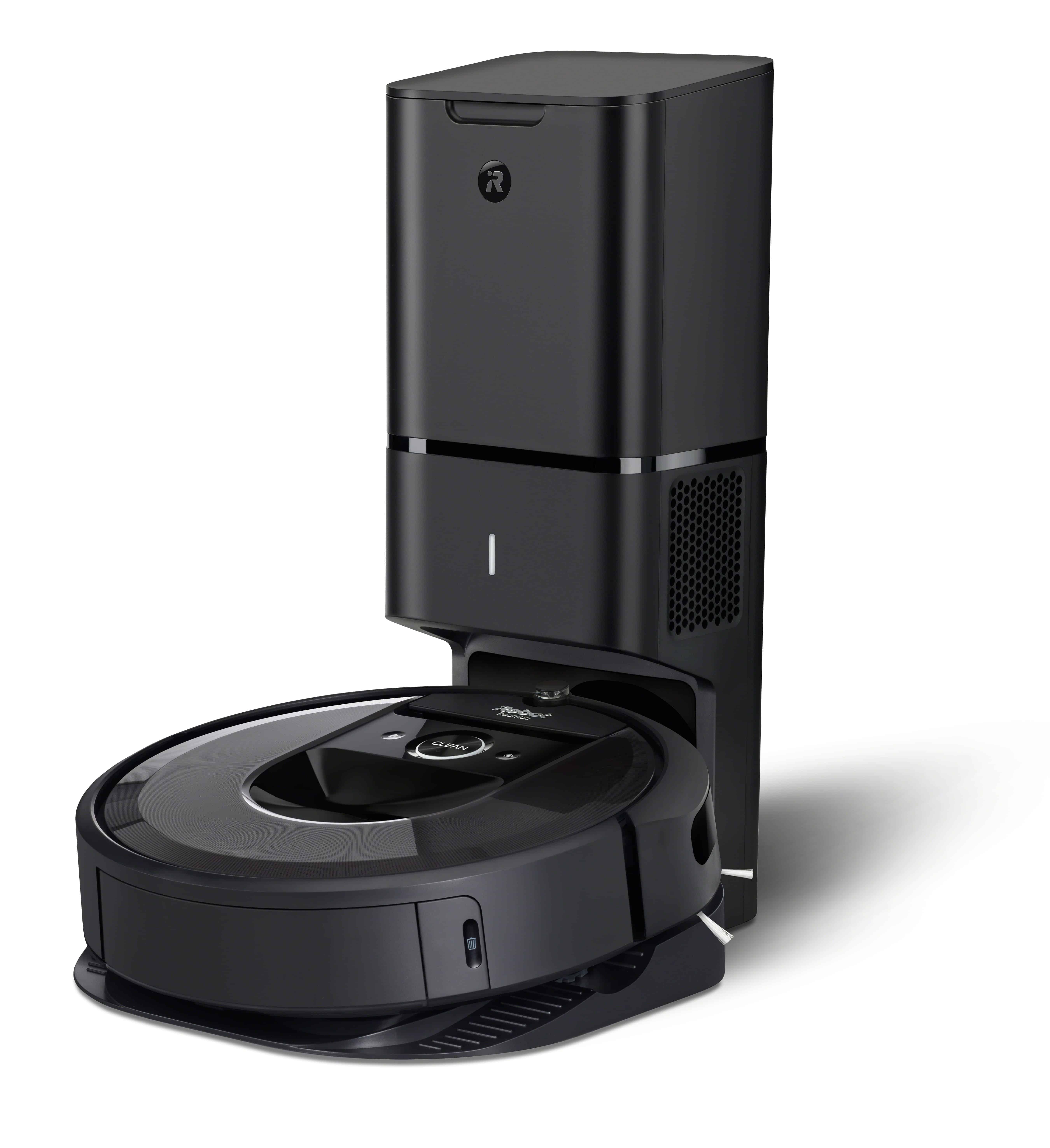 irobot roomba i7 Charcoal CleanBase Photo Studio LeftStanding Hero