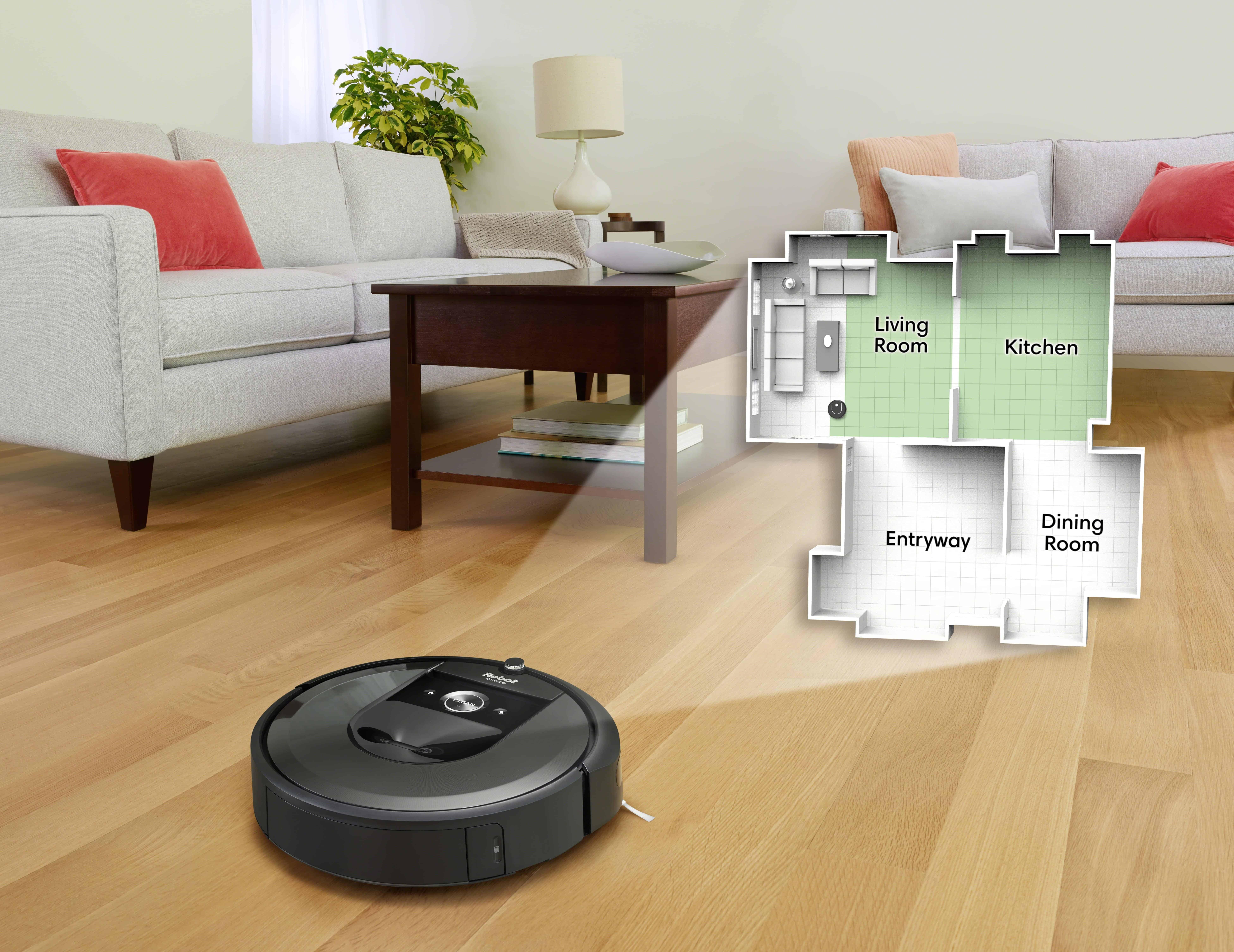 irobot roomba i7 i7 Charcoal Photo Imprint Smart Map LivingRoom Overlay