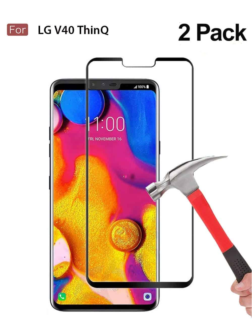 Wellci [ 2 Pack ] Full Coverage Tempered Glass Screen Protector - (Amazon)