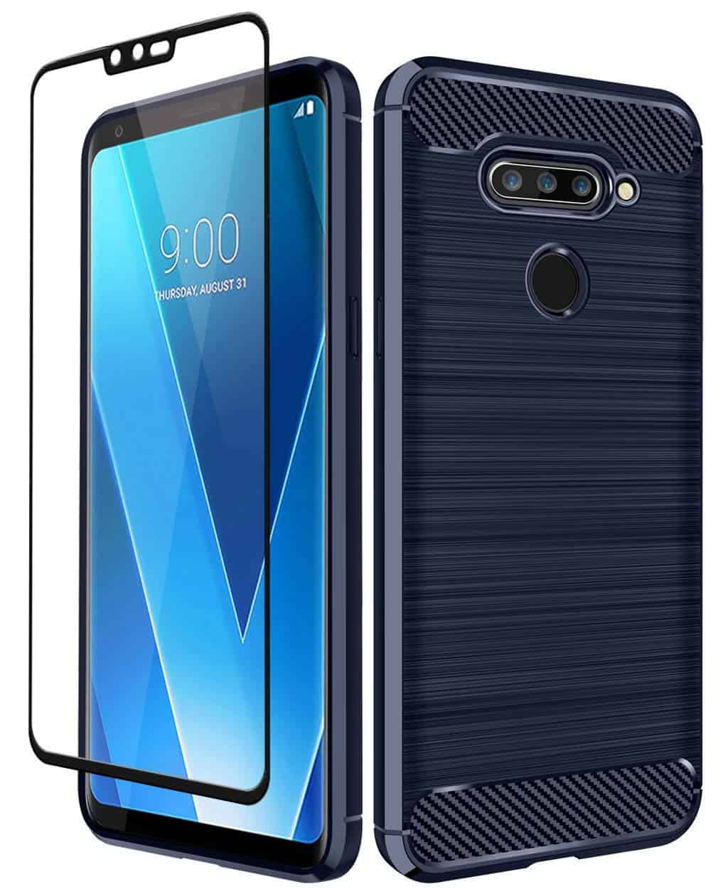 Aoways Tempered Glass Screen Protector & Carbon Fiber Soft TPU Case - (Amazon)