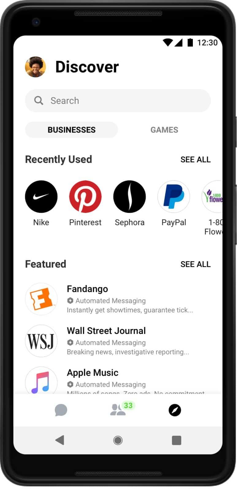 Facebook Messenger v4 update 4