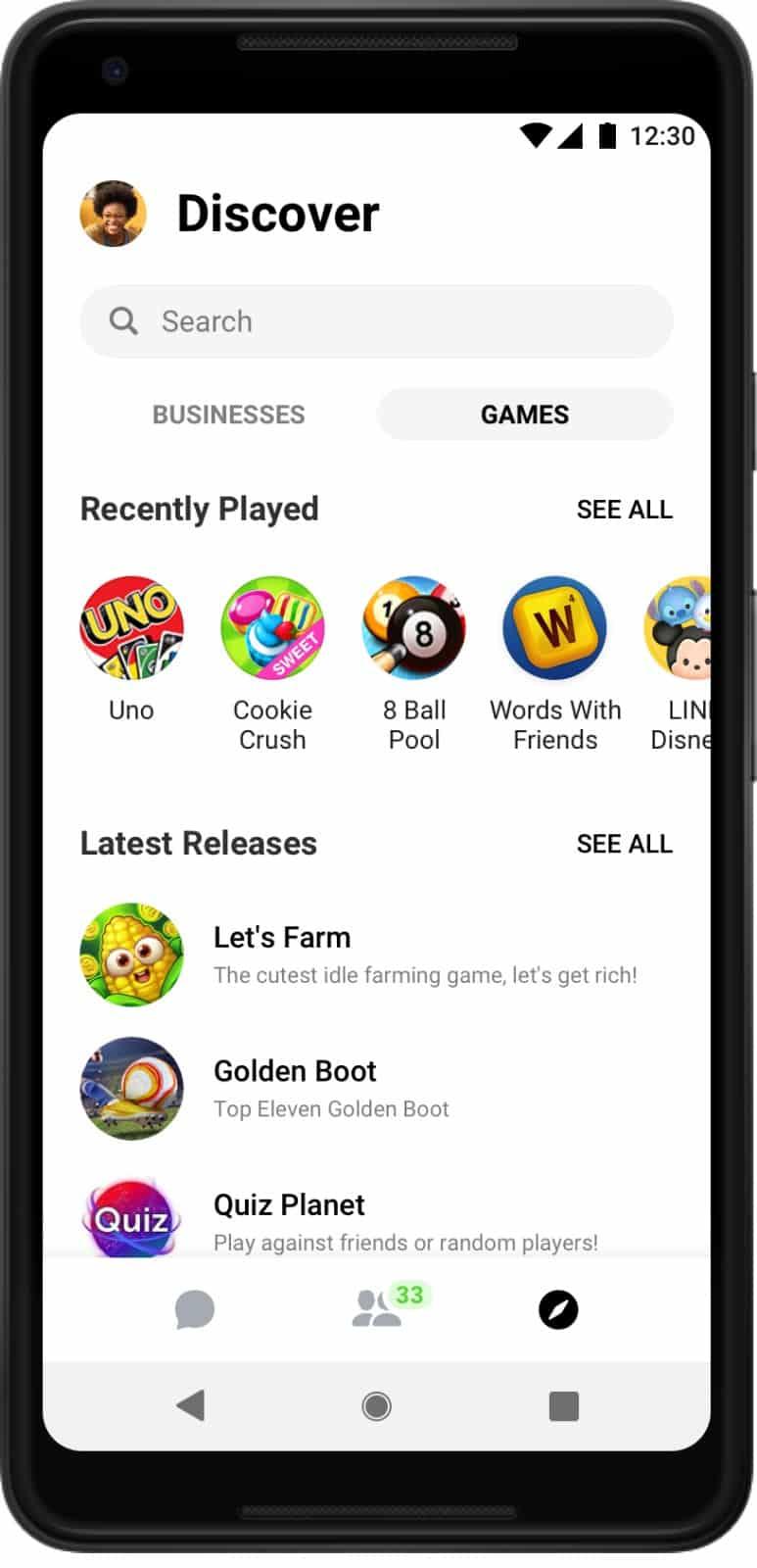 Facebook Messenger v4 update 5