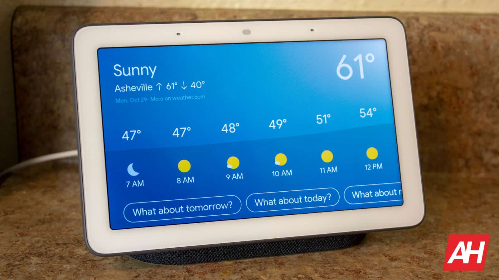 Google Home Hub New Logo AH NS 12 weather